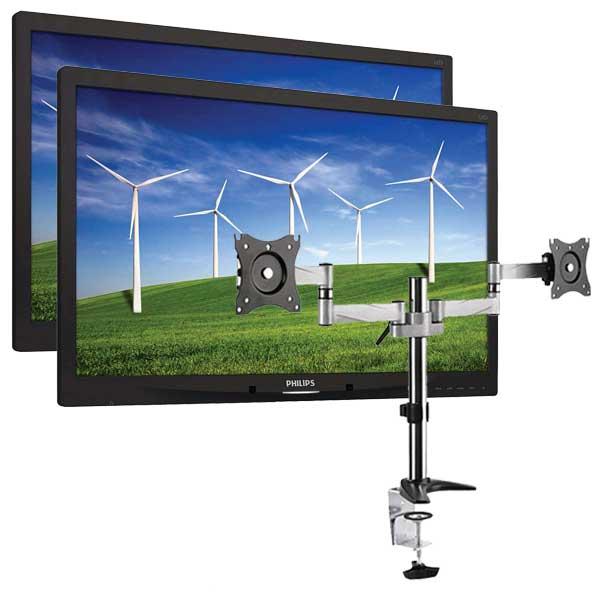 Dual Philips 22 inches monitors